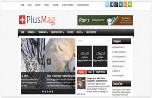 Magazine Free Blogger Responsive Template