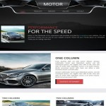 Responsive Black Automotive CSS3 Template