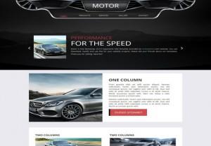 Responsive Black Automotive CSS3 Template