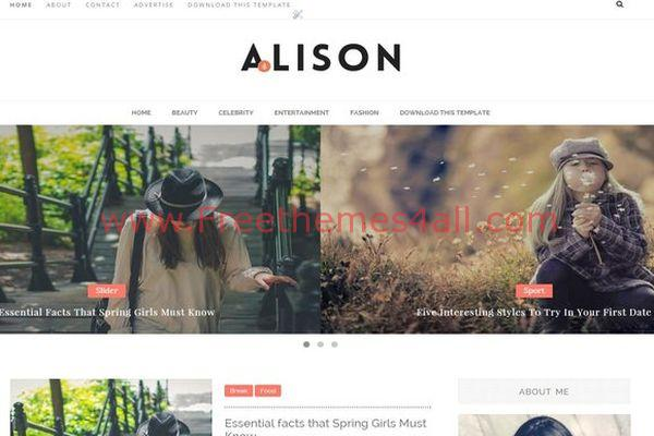 Alison Magazine Fashion Blogger Theme