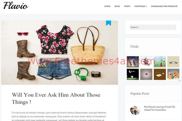 Clean Simple Blogger Responsive Them