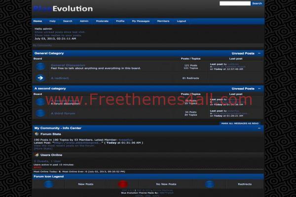 Evolution Textured Free Blue SMF Theme