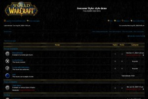 Abstract Black Free Warcraft Phpbb Style
