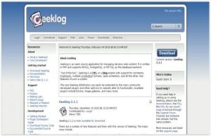 Geeklog Free Blog CMS Script Download