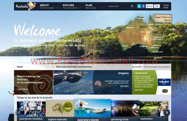 travel websites design style