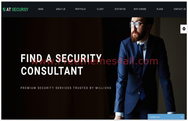 Responsive Free Joomla Security Theme