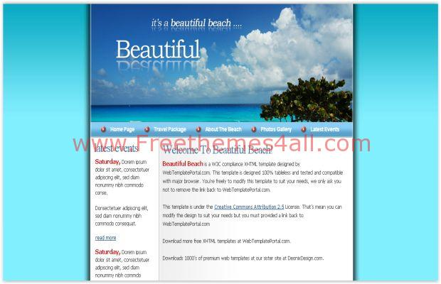 Blue Sea Beach CSS Website Template