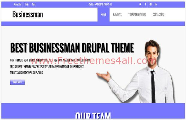 Responsive Business Violet Drupal Theme