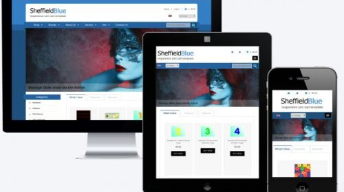 Simple Blue ZenCart Responsive Theme