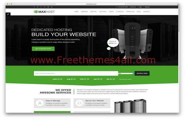 Corporate Web Hosting WordPress Theme