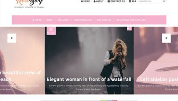 Responsive Pink Rose Blogger Template