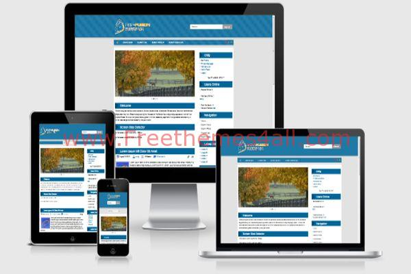 Clean Blue Responsive Phpfusion 7 Theme