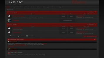 Free Dark Red SMF Black Theme Template
