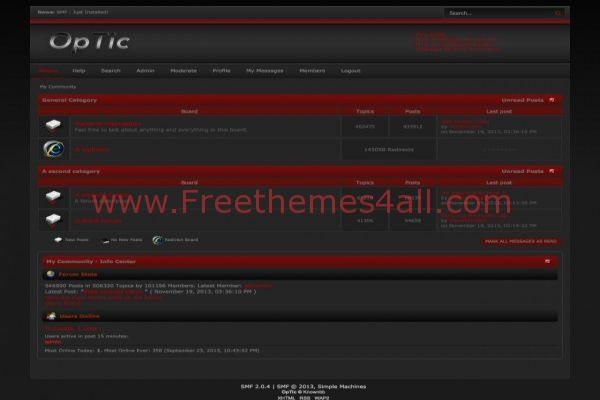 Dark Red SMF Black Theme Template