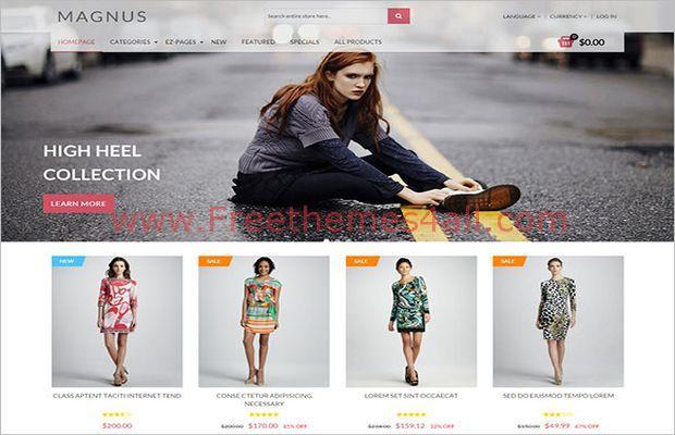Premium Online Fashion ZenCart Template