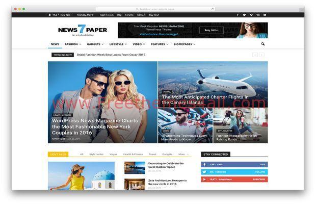 Magazine Newspaper WordPress Theme