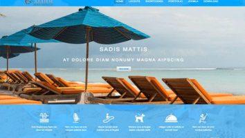 Blue Responsive Free Joomla Travel Template