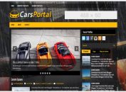 Yellow Black Car Dealer Blogger Template