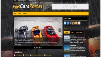 Yellow Black Car Dealer Blogger Template