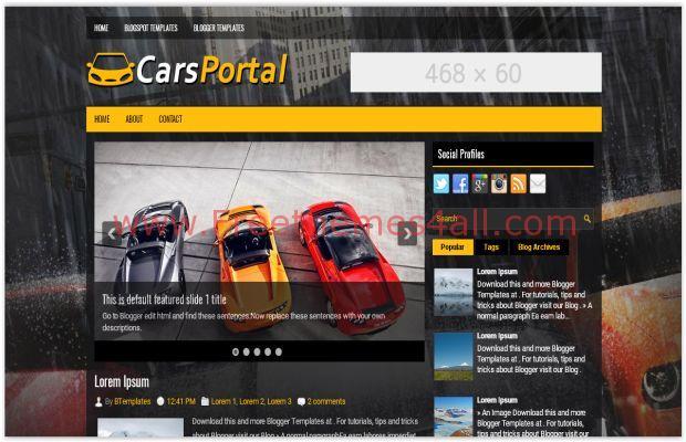 Black Car Dealer Blogger Template