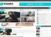 Blue Responsive Blogger Magazine Template