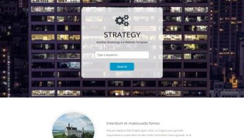 Responsive Portfolio One Page HTML5 Template