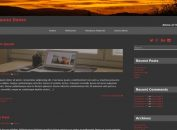 Simple Dark WordPress Brown Theme