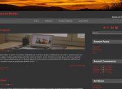 Simple Dark WordPress Brown Theme