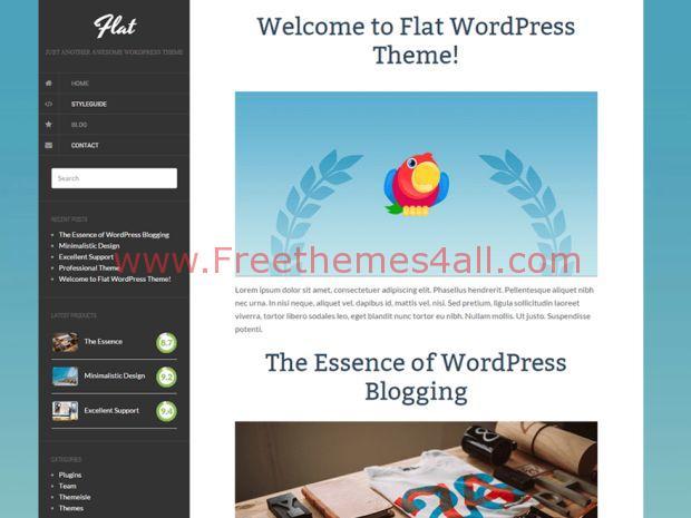 Flat wordpress theme free