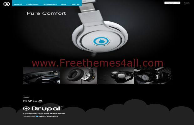 Responsive Music Streaming Drupal 8 Theme