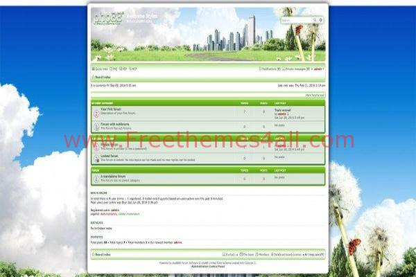Summer Spring Phpbb Green Style Theme