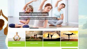 Responsive Fitness Yoga Joomla Template