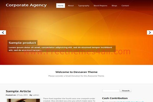 Free Corporate Business Agency Drupal Theme