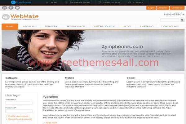 Free Responsive Web Agency Drupal Theme