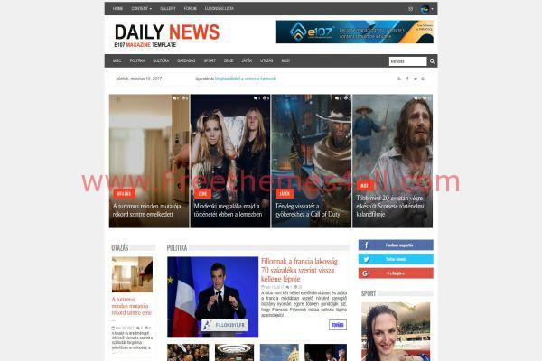 Bootstrap Responsive Magazine E107 Theme - Freethemes4all