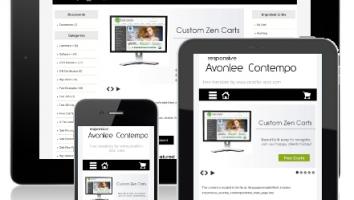 Free Black White Responsive ZenCart Template