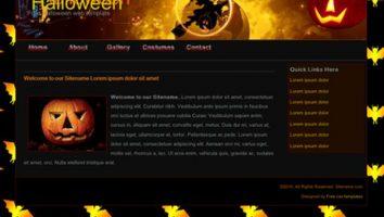 Free css website templates freethemes4all dark black css halloween template maxwellsz