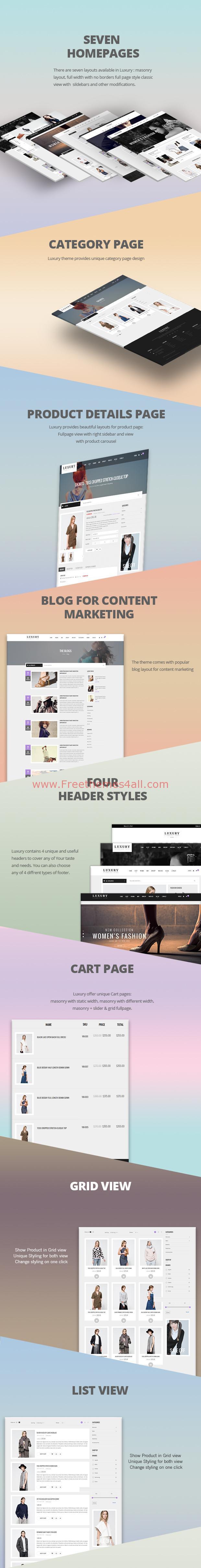 free responsive zen cart templates - premium luxury responsive zencart template freethemes4all