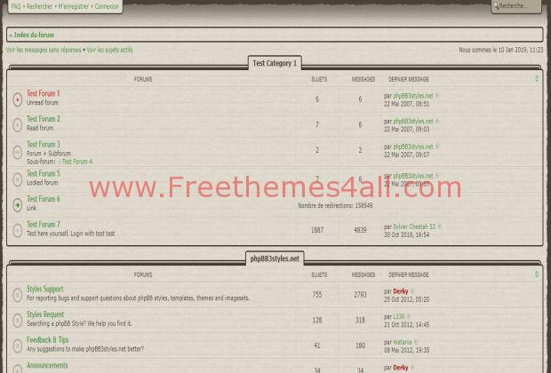 light brown elegant phpbb vintage style freethemes4all. Black Bedroom Furniture Sets. Home Design Ideas